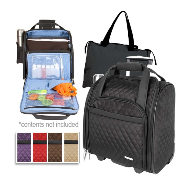 7de7f2a3dd29 Travelon (R) wheeled underseat carry-on with back-up bag - GOimprints