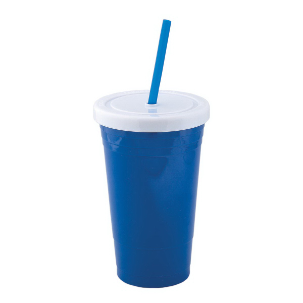 600 ml (20 oz) Acrylic Tumbler with Straw