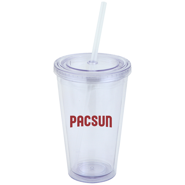 16 oz. Double Wall Clear Tumbler