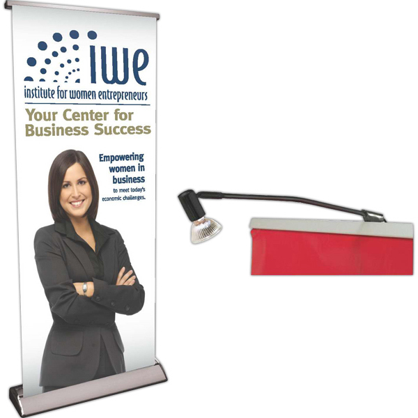 Deluxe 2-Sided Retractor with Banners--Rush