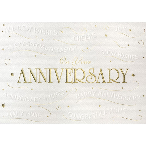 Embossed anniversary wishes greeting card goimprints embossed anniversary wishes greeting card m4hsunfo