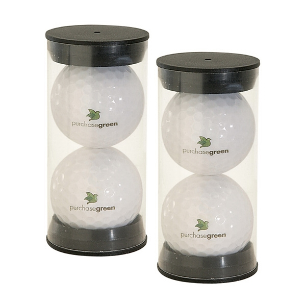 Twin Golf Ball Pack w/ 4 Color Process