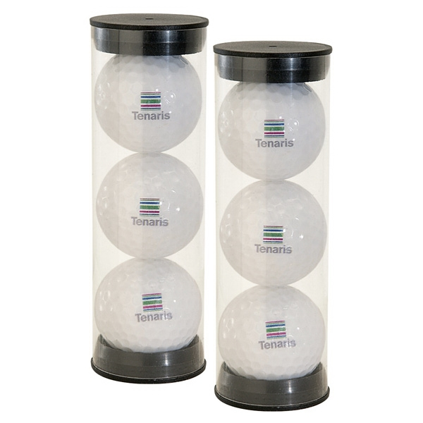 Triple Golf Ball Pack w/ 4 Color Process
