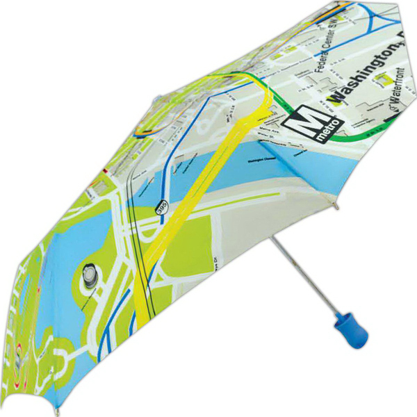 Subway Automatic Open Umbrella With Washington Dc Metro Map