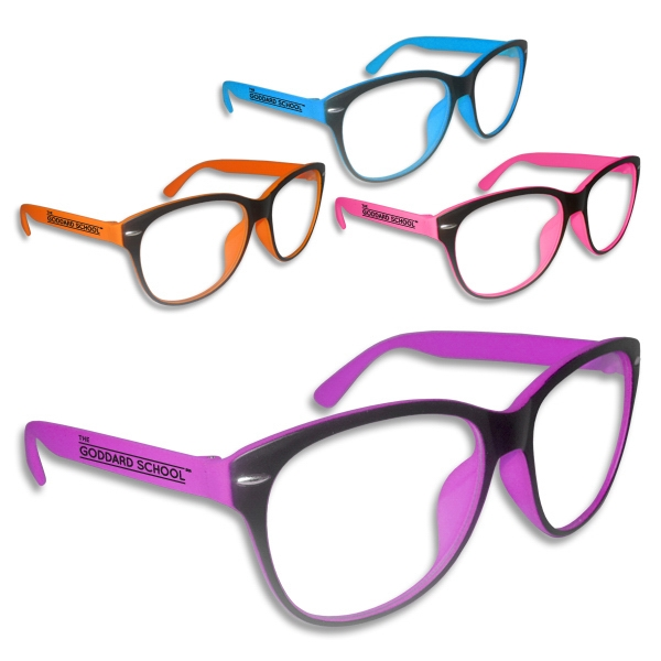 Premium Clear Lens Neon Glasses