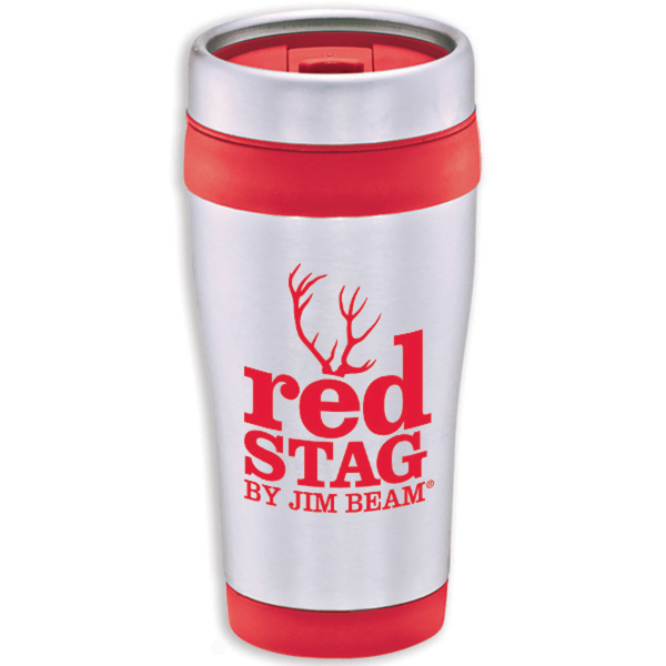 Stainless with Color Band Tumbler - 16 oz